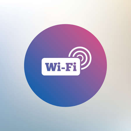 wifi sign: Free wifi sign. Wifi symbol. Wireless Network icon. Wifi zone. Icon on blurred background. Vector Illustration