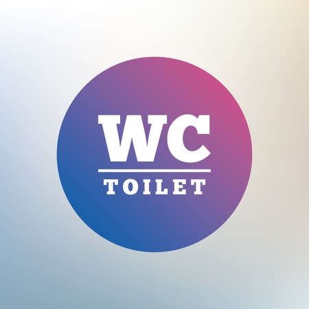 lavatory: WC Toilet sign icon. Restroom or lavatory symbol. Icon on blurred background. Vector