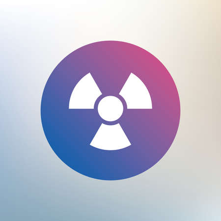 Radiation sign icon. Danger symbol. Icon on blurred background. Vector Vector