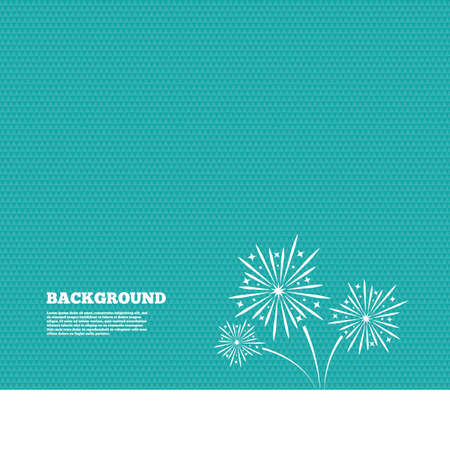 pyrotechnic: Background with seamless pattern. Fireworks sign icon. Explosive pyrotechnic show symbol. Triangles green texture. Vector