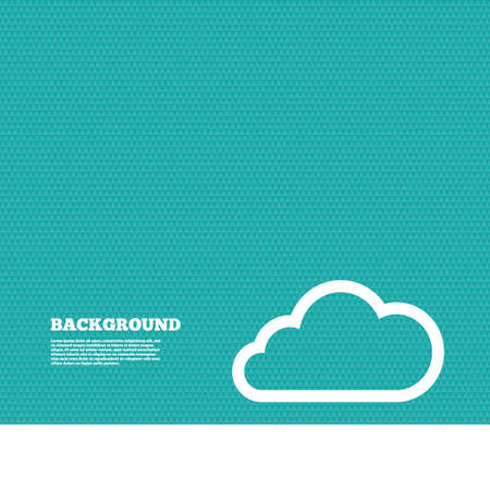 green texture: Background with seamless pattern. Cloud sign icon. Data storage symbol. Triangles green texture. Vector Illustration