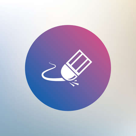 erase: Eraser icon. Erase pencil line symbol. Correct or Edit drawing sign. Icon on blurred background. Vector Illustration