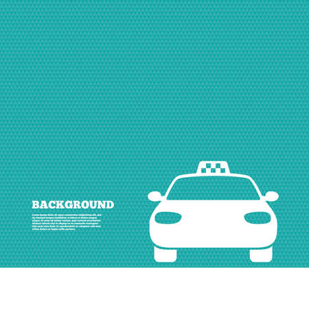 pubblico: Background with seamless pattern. Taxi car sign icon. Public transport symbol. Triangles green texture. Vector