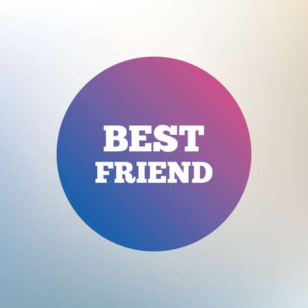relatives: Best friend sign icon. Award symbol. Icon on blurred background. Vector