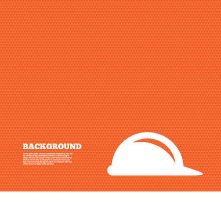 construction hat: Background with seamless pattern. Hard hat sign icon. Construction helmet symbol. Triangles orange texture. Vector
