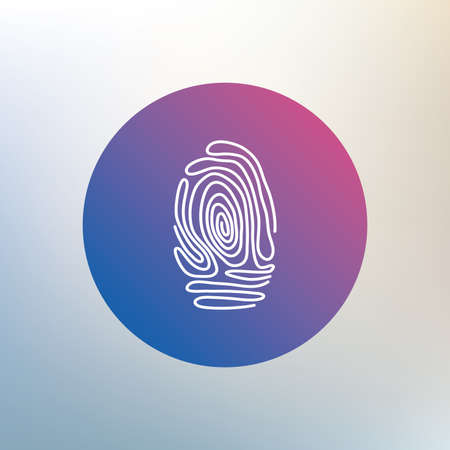 Fingerprint sign icon. Identification or authentication symbol. Icon on blurred background. Vector