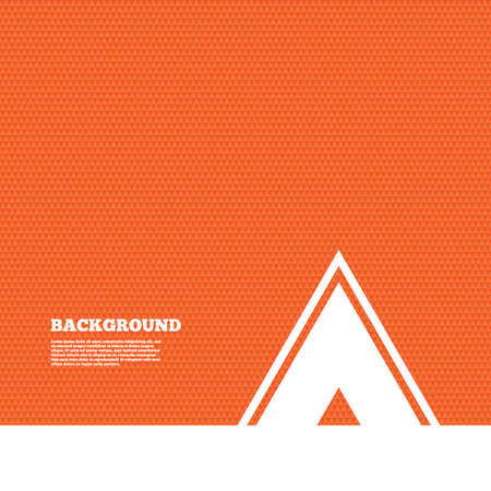 orange texture: Background with seamless pattern. Tourist tent sign icon. Camping symbol. Triangles orange texture. Vector