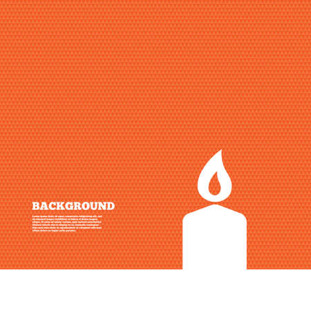 orange texture: Background with seamless pattern. Candle sign icon. Fire symbol. Triangles orange texture. Vector Illustration