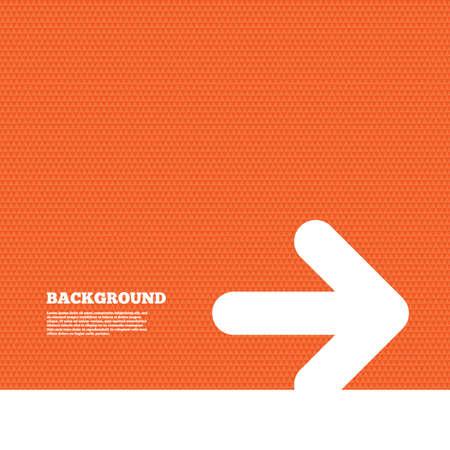 orange texture: Background with seamless pattern. Arrow sign icon. Next button. Navigation symbol. Triangles orange texture. Vector Illustration