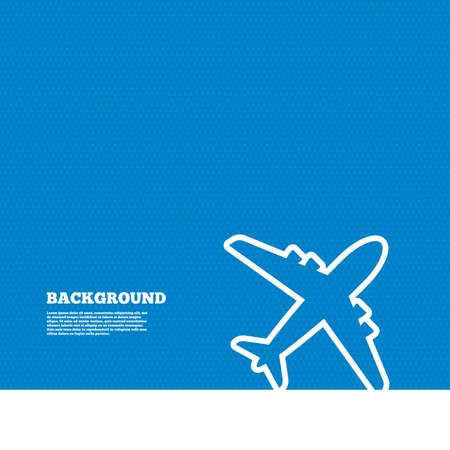 Background with seamless pattern. Airplane sign. Plane symbol. Travel icon. Delivery flight flat label. Triangles texture. Vector Illustration