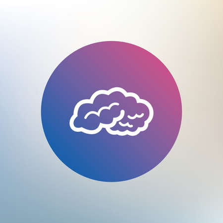intelligent: Brain sign icon. Human intelligent smart mind. Icon on blurred background. Vector Illustration