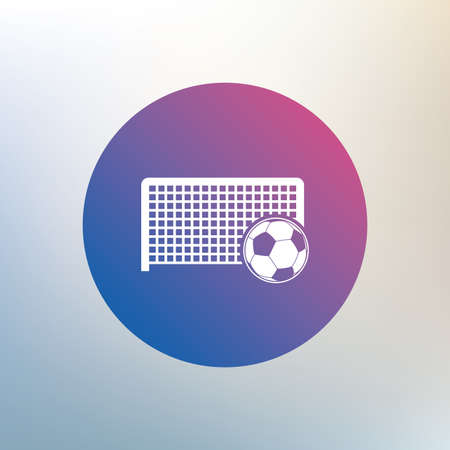 goalkeeper: Football gate and ball sign icon. Soccer Sport goalkeeper symbol. Icon on blurred background. Vector
