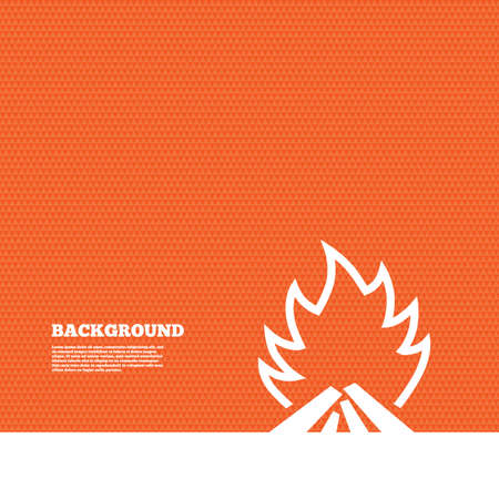 fire escape: Background with seamless pattern. Fire flame sign icon. Heat symbol. Stop fire. Escape from fire. Triangles orange texture. Vector