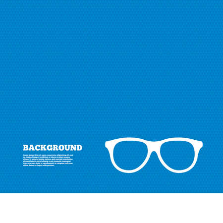 eyeglass frame: Background with seamless pattern. Retro glasses sign icon. Eyeglass frame symbol. Triangles texture. Vector Illustration