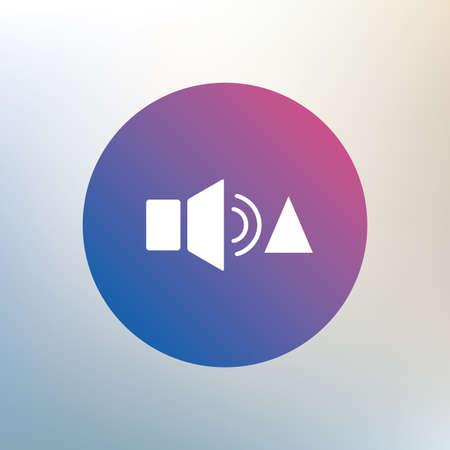 louder: Speaker volume louder sign icon. Sound symbol. Icon on blurred background. Vector