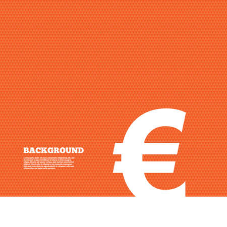 orange texture: Background with seamless pattern. Euro sign icon. EUR currency symbol. Money label. Triangles orange texture. Vector Illustration