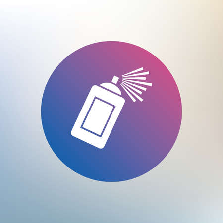 paint can: Graffiti spray can sign icon. Aerosol paint symbol. Icon on blurred background. Vector