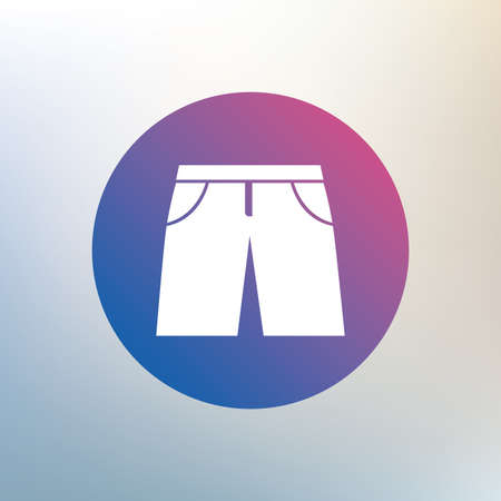 Mens Bermuda shorts sign icon. Clothing symbol. Icon on blurred background. Vector