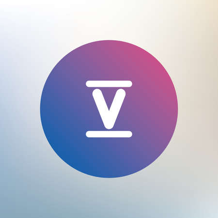 numeral: Roman numeral five sign icon. Roman number five symbol. Icon on blurred background. Vector