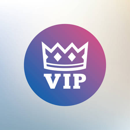 very important person: Vip sign icon. Membership symbol. Very important person. Icon on blurred background. Vector Illustration