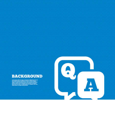 Background with seamless pattern. Question answer sign icon. Q&A symbol. Triangles texture. Vector Ilustracja