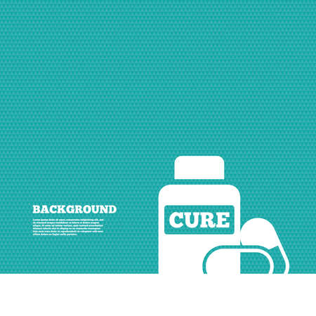 drugs: Background with seamless pattern. Medical pills bottle sign icon. Pharmacy medicine drugs symbol. Triangles green texture. Vector