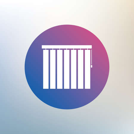 jalousie: Louvers vertical sign icon. Window blinds or jalousie symbol. Icon on blurred background. Vector