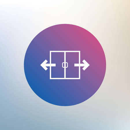 automatic: Automatic door sign icon. Auto open symbol. Icon on blurred background. Vector