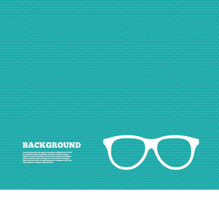 eyeglass frame: Background with seamless pattern. Retro glasses sign icon. Eyeglass frame symbol. Triangles green texture. Vector