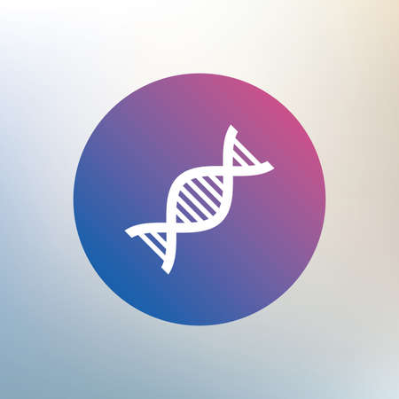 deoxyribonucleic: DNA sign icon. Deoxyribonucleic acid symbol. Icon on blurred background. Vector Illustration