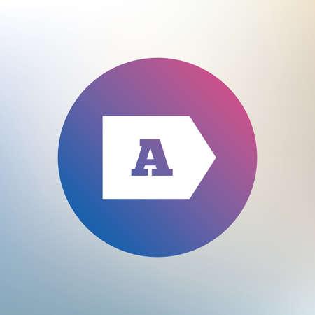 消費: エネルギー消費効率クラス記号アイコンです。エネルギー消費のシンボル。背景をぼかした写真のアイコンを。ベクトル