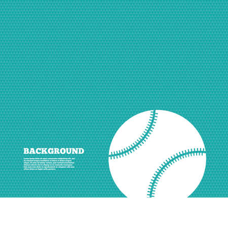 green background pattern: Background with seamless pattern. Baseball ball sign icon. Sport symbol. Triangles green texture. Vector