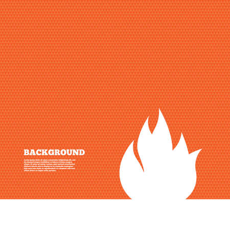 fire escape: Background with seamless pattern. Fire flame sign icon. Fire symbol. Stop fire. Escape from fire. Triangles orange texture. Vector