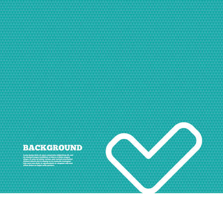 yes button: Background with seamless pattern. Check sign icon. Yes button. Triangles green texture. Vector