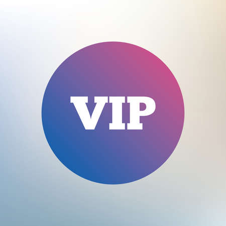 very important person sign: Vip sign icon. Membership symbol. Very important person. Icon on blurred background. Vector Illustration