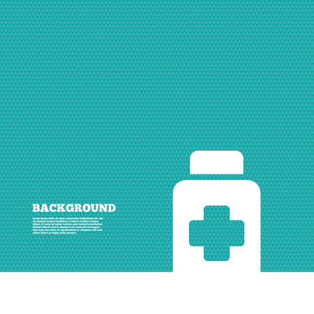 green texture: Background with seamless pattern. Drugs sign icon. Pack with pills symbol. Triangles green texture. Vector Illustration