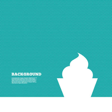 green texture: Background with seamless pattern. Muffin sign icon. Cupcake symbol. Triangles green texture. Vector