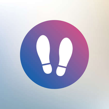 imprint: Imprint soles shoes sign icon. Shoe print symbol. Icon on blurred background. Vector
