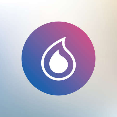 tear: Water drop sign icon. Tear symbol. Icon on blurred background. Vector
