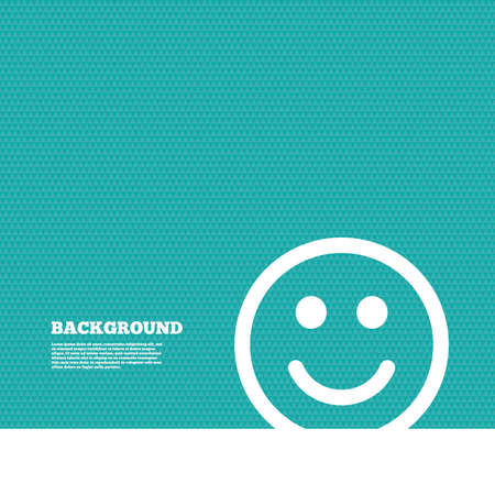 green texture: Background with seamless pattern. Smile icon. Happy face chat symbol. Triangles green texture. Vector