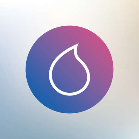 tear drop: Water drop sign icon. Tear symbol. Icon on blurred background. Vector