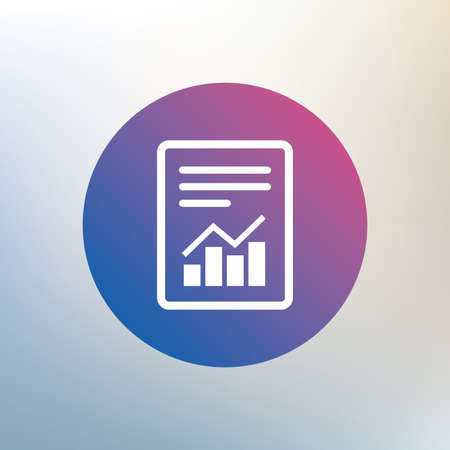 accounting symbol: Text file sign icon. Add File document with chart symbol. Accounting symbol. Icon on blurred background. Vector Illustration