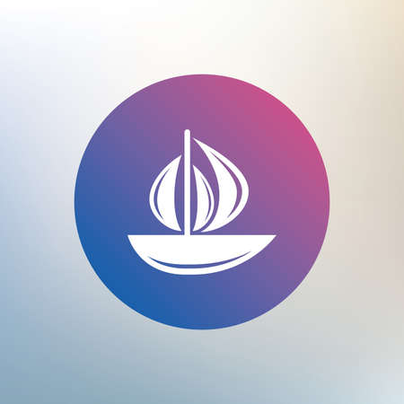 ship sign: Sail boat icon. Ship sign. Shipment delivery symbol. Icon on blurred background. Vector