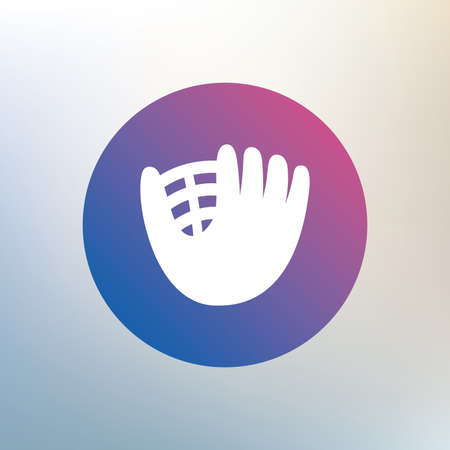 mitt: Baseball glove or mitt sign icon. Sport symbol. Icon on blurred background. Vector Illustration