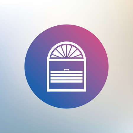 jalousie: Louvers plisse sign icon. Window blinds or jalousie symbol. Icon on blurred background. Vector