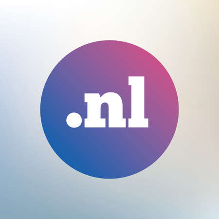 nl: Domain NL sign icon. Top-level internet domain symbol. Icon on blurred background. Vector
