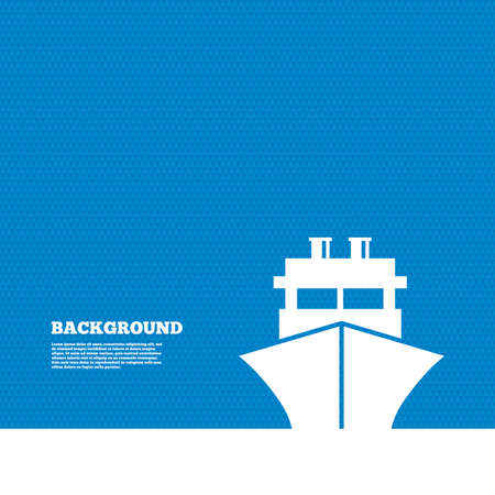 Background with seamless pattern. Ship or boat sign icon. Shipping delivery symbol. Triangles texture. Vector