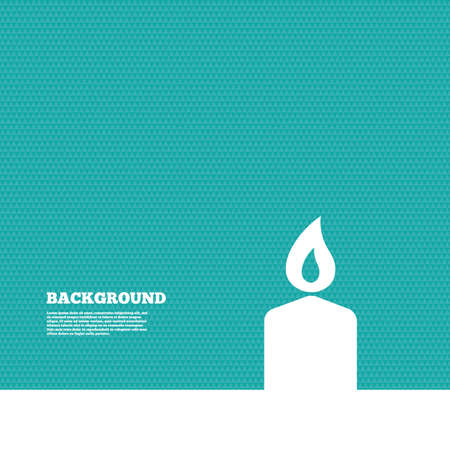 green texture: Background with seamless pattern. Candle sign icon. Fire symbol. Triangles green texture. Vector