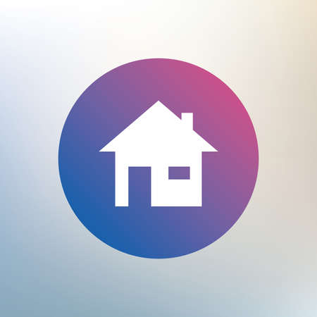 window seal: Home sign icon. Main page button. Navigation symbol. Icon on blurred background. Vector