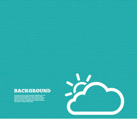 green texture: Background with seamless pattern. Cloud and sun sign icon. Weather symbol. Triangles green texture. Vector